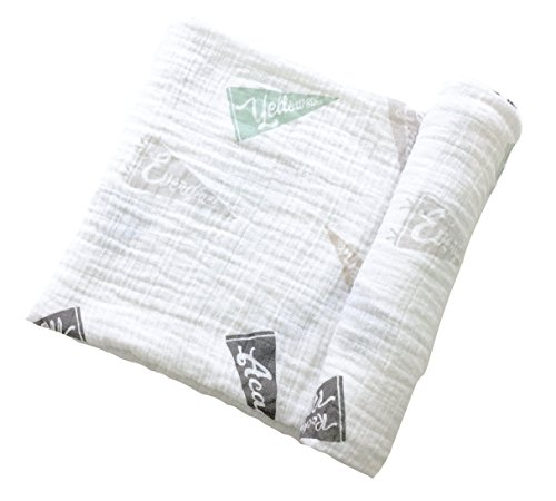 Wild Willow Muslin Baby Swaddle Blanket - 47x47 (National Park) ()