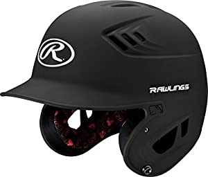 Rawlings R16 Series Matte Batting Helmet, Black, Senior
