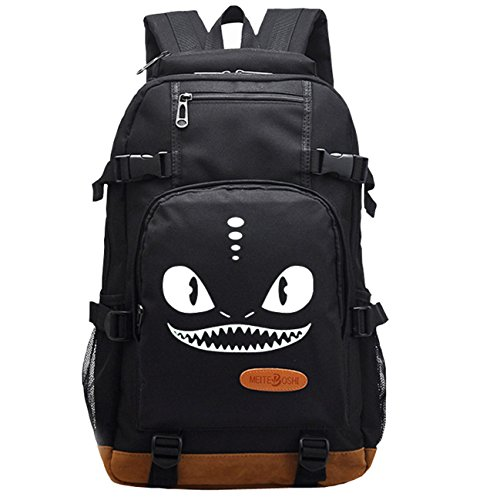 Cheap AUGYUESS Luminous Korean Canvas School Bag Rucksack Daypack Bookbag Laptop Bag Backpack