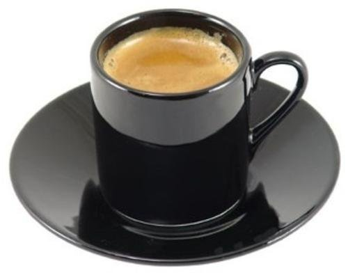 HIC Harold Import Co. NT420B-HIC 8-Piece Demitasse Espresso Cups Set, Fine Black Porcelain, Set Includes 4 Cups with Matching Saucers, 2.25-Ounces NT420B-HIC