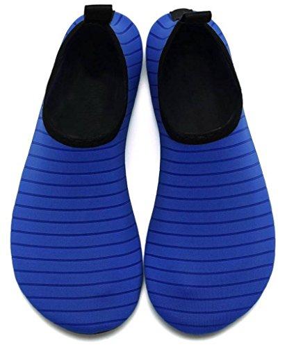 Piel Secado COMVIP Agua del Azul de Barefoot Yoga de Adulto Hombres Calcetines Aqua rápido Zapatos wq4Z1Xq