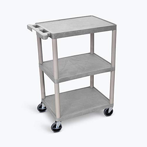 Luxor Multipurpose Storage Utility Cart 3 Shelves Structural Foam Plastic - ()