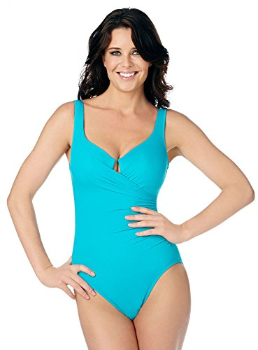 Miraclesuit Aqua Marine Escape Underwire One Piece Swimsuit Size 16 by Miraclesuit