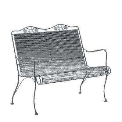 Briarwood Wrought Iron Garden Bencn Finish: Textured Black (Briarwood Furniture)