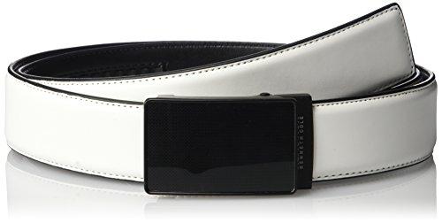 Kenneth Cole REACTION Men's Perfect Fit Adjustable Click Belt with Plaque (Plaque Buckle)