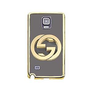 Personalized Fashion Gucci Logo Phone Case for Samsung Galaxy Note 4 Gucci Logo Gold Frame TPU Soft Plastic Phone Case