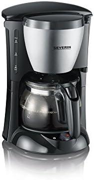 Severin Ka 4805 Koffiezetapparaat Voor Gemalen Filterkoffie 4 Kopjes incl Glazen Kan Roestvrij StaalZwart