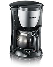 Severin Ka 4805 Koffiezetapparaat, Voor Gemalen Filterkoffie, 4 Kopjes, incl. Glazen Kan, Roestvrij Staal/Zwart