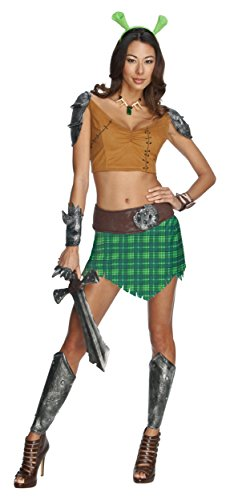 [Secret Wishes Sexy Fiona Warrior Princess Shrek Halloween Costume XS] (Warrior Fiona Costumes)