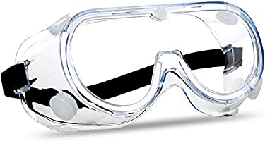 SuperMore Anti-Fog Protective Safety Goggles Clear Lens Wide-Vision Adjustable Chemical Splash Eye Protection Soft...