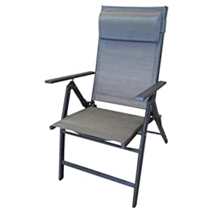 Roma Mocha reclinable sillas de comedor sillones de jardín diseño cilíndrico con acolchado de 2 x Reposacabezas