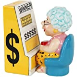 "3.75"" Casino Slots Machine Queen Grandma Magnetic Salt & Pepper Shakers -Attractives Collection"