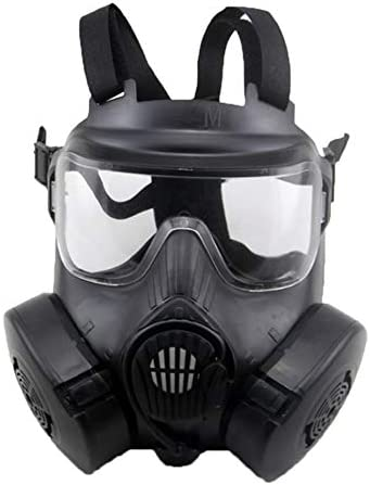 Amandai Máscara de Gas máscara de CS Airsoft táctico Protección de Paintball de Doble Ventilador para Toda la Cara