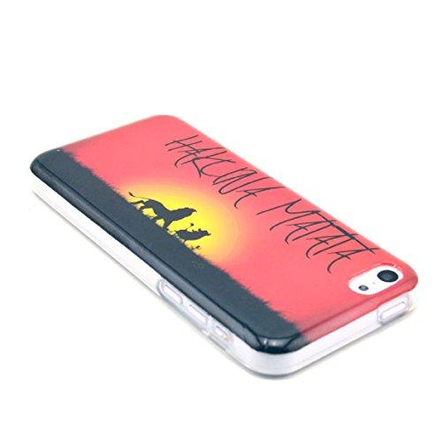 Vovotrade(TM) Hakuna Matata Rubber Soft TPU Phone Case Skin for iPhone 5C