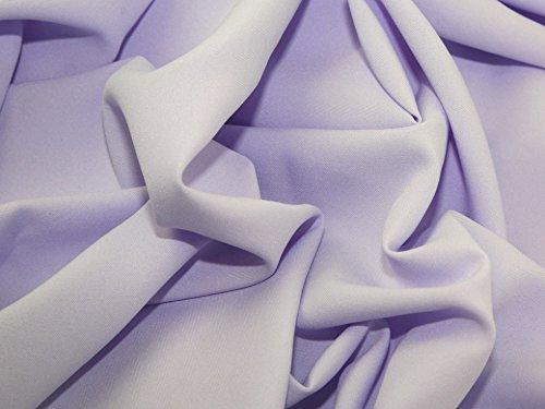 Minerva Crafts Polyester Bi Stretch Suiting Dress Fabric Pale Lilac - per - Stretch Fabric Bi