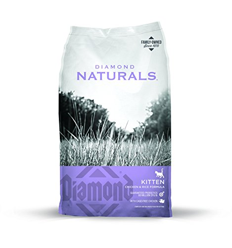 Diamond Naturals Kitten Real Meat Recipe Natural Dry Cat Food With Real Cage Free Chicken 6Lb (Natural Cat Diamond Food)