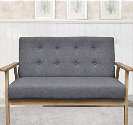 Amazon.com: Retro 2 Seater Sofa Scandinavian Danish Fabric Accent ...