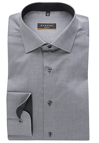 Eterna Sleeve Uni Stretch Fit Slim Shirt Long Grigio r5qxn6r