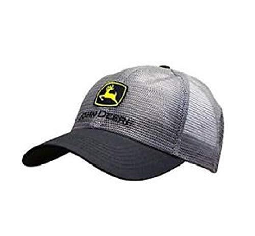 John Deere Classic Logo Mesh Cap-Charcoal