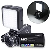 Camcorder Video Camera Digital Camera Recorder Vlogging Camera HAOHUNT HD 1080P 24.0MP 3.0 Inch LCD Rotation Screen 16X Digital Zoom Camera with 2 Batteries and Led Video Light(301S-PlusL)
