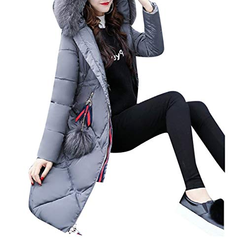 Grey Outwear Jacket Mid Thick Coat EnergyWomen Oversized Hood Cotton Slim nqwFpzH