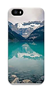 iPhone 5 5S Case Green Mountain Lake 3D Custom iPhone 5 5S Case Cover