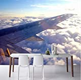 Mbwlkj Photo Wallpaper 3D Restaurant Corridor Shaking Mural Sky Sea of Clouds Wing Fresco Living Room Tv Backdrop Wallpaper-200cmx140cm