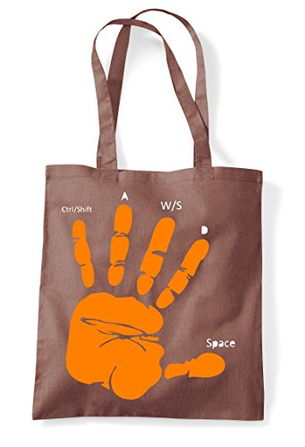 Pc Hand Layout Tote Chestnut Bag Gamer Shopper Guide Gaming Statement HfwnwZPq