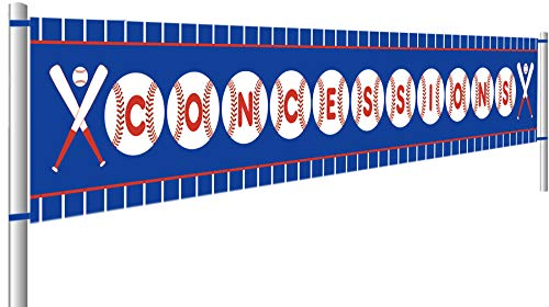 Baseball Concessions Birthday Banner, Happy Birthday Banner, Baby