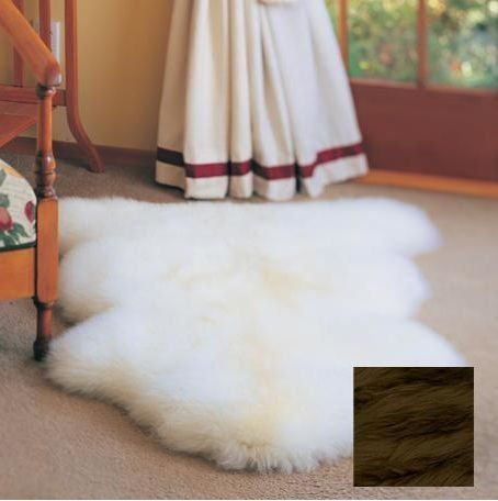 Bowron Double Pelt Gold Star Rug - Paco Gold Star Sheepskin Rug