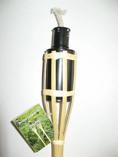 6 Bambusfackeln 90 cm m. Dochtschutz