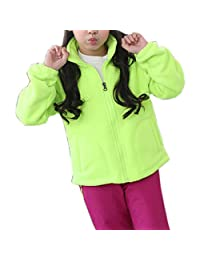 ZumZup Women Men Kids Fleece Jacket Full Zip Stand Collar Sportwear Top Outwear