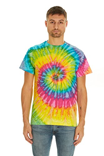 Krazy Tees Colortone Tie Dye T-Shirt, Saturn-XL (T-shirt Dye Fade Tie)