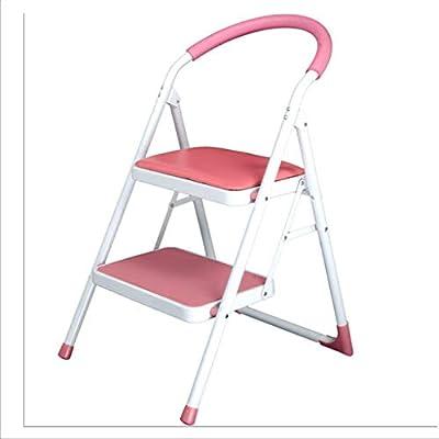 Multifuncional Escalera del hogar, Escalera de dos pasos Escalera plegable interior Escalera retráctil multifunción Tamaño 47 * 15 * 97CM estable (Color : Pink, Size : 47 * 15 * 97CM): Amazon.es: Bricolaje y herramientas