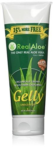 Real Aloe - Organically Grown Aloe Vera Gelly Unscented - 6.