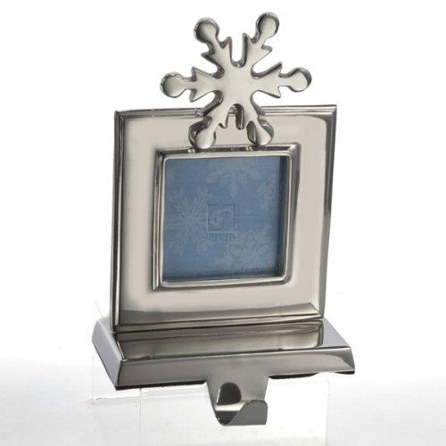 Kurt Adler 8-Inch Photo Frame Stocking Holder, Shiny Silver