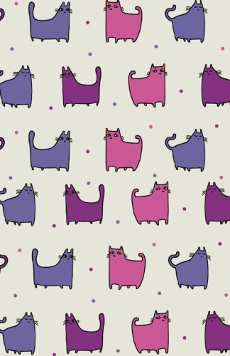 """Bullet Journal For Cat Lovers - Funny Cat Pattern Purple Rain: 162 Numbered Pages With 150 Dot Grid Pages, 6 Index Pages and 2 Key Pages in Easy To ... X 8.5"""" Size. (Dot Bullet Journal) (Volume 26) ebook"""
