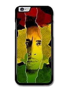 "AMAF ? Accessories Bob Marley Jamaican Flag Portrait Rasta Reggae case for iPhone 6 Plus (5.5"")"