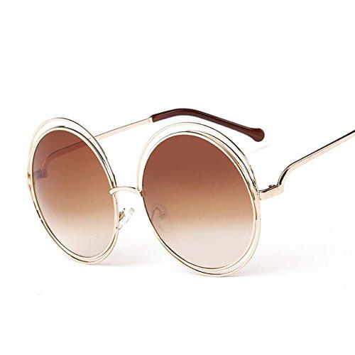 SnikFish-Fashion-Women-Color-Film-Sunglasses-Round-Frame-Sun-Glasses-Coffeecolor