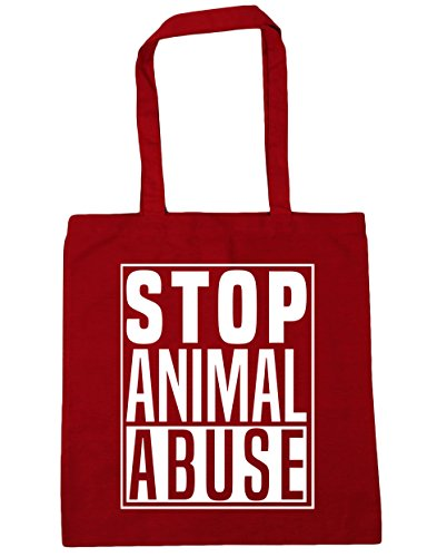 litres Classic Abuse 42cm x38cm 10 Red Bag Beach Gym Tote Stop Animal Shopping HippoWarehouse Pxnqf711w