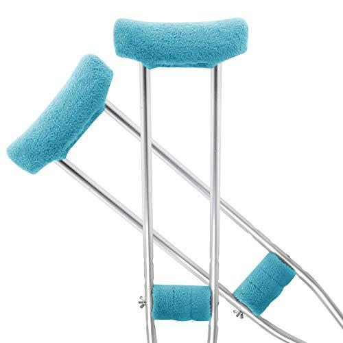 Underarm Crutch Cushion - TOMMHANES AMISGUOER Crutch Pads Underarm Crutches Pads Crutch Hand Grip Covers Crutch Pads Washable OneSize (2 Armpit, 2 Hand Cushion) (CP09B)