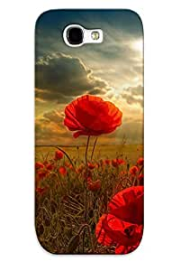 Improviselike Durable Poppy Field Back Case/ Cover For Galaxy Note 2 For Christmas' Gifts