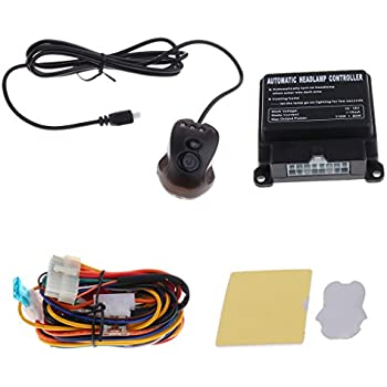 Jili Online 12V Car Automatic Headlight Light Sensor On/Off Switch Multifunction