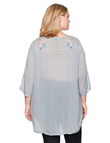 Johnny Was Women's Plus Size Sindri Tunic, Fog, 2X