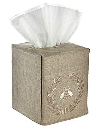 Jacaranda Living Natural Linen Tissue Box Cover, Napoleon