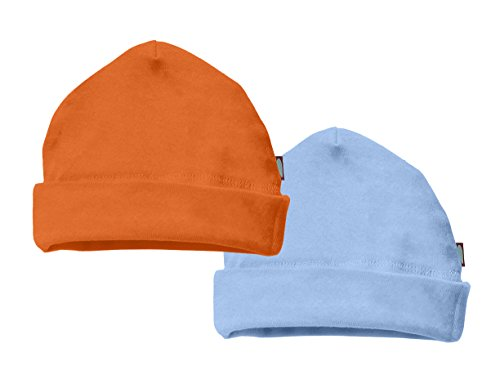 100-cotton-baby-beanie-cap-hat-skull-cap-newborn-infant-orange-bright-light-blue-9-12-m