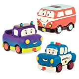 B. Toys - Mini-Wheeeels 3-Mini Toy Vehicles Cars Set - Set of 3 Pull-Back Toy Cars for Kids 1 Year + (3-Pcs)