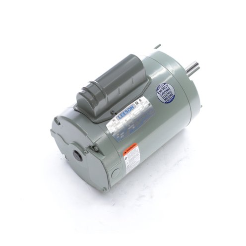 Leeson Electric 114620.00 - Ventilation Fan Motor - 1 ph, 1/2 hp, 900 rpm, 115/230 V, 56Z Frame, Totally Enclosed Non Ventilated Enclosure, 60 Hz ()