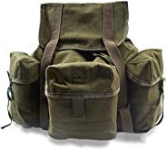 YBRR Replica WW2 US Army Style Backpack Outdoors Packs Canvas Bag Green