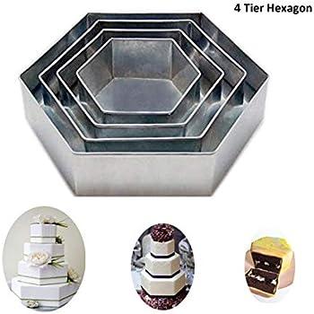 Amazon Com 4 Tier Hexagon Multilayer Birthday Wedding